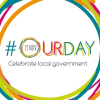 Colourful #OurDay logo