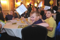Children at awards ceremony for No Child Left Behind awards in 2020