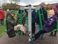 Residents try new outdoor gym in Hatherley
