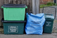 Recycling peresented at kerbside