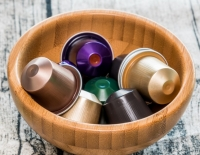 coffee pods in pot