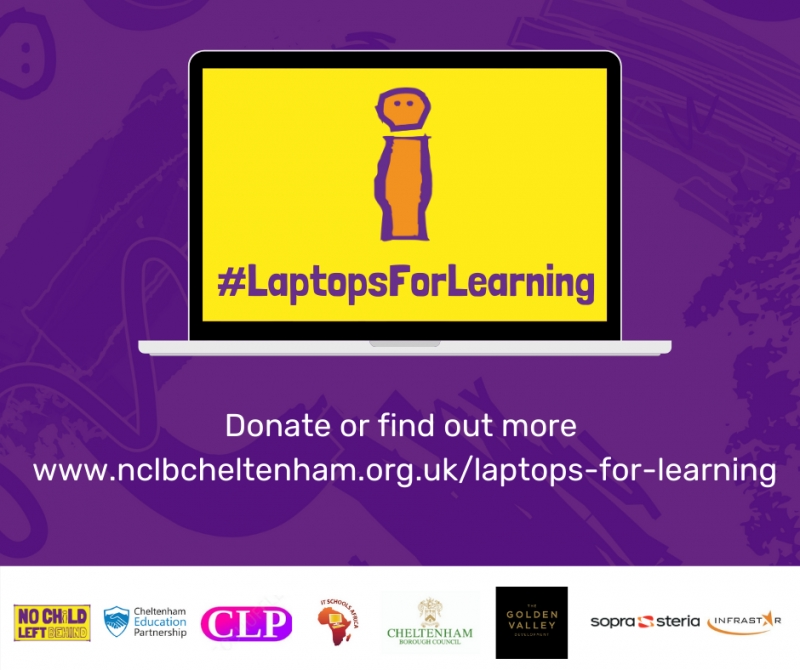 #Laptops For Learning campaign graphic