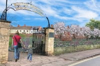 Artists impression of community orchard at Winston Churchill Memorial Garden