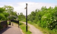 Footpath and cycle route along the old Honeybourne railway line